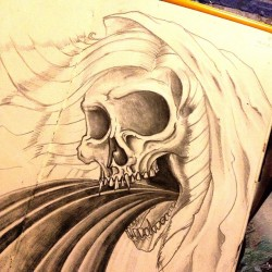 #Santita #Muerte #graphite on #Moleskin