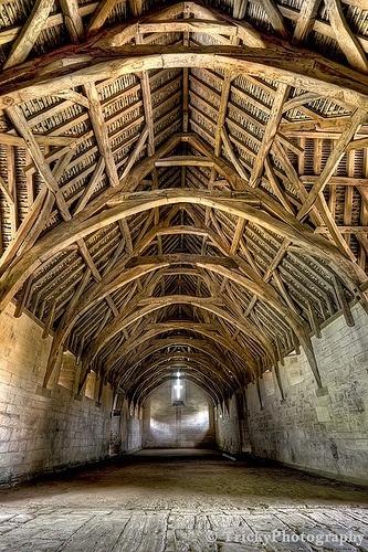 greybeard86:  Ceiling detail of 14th century barn