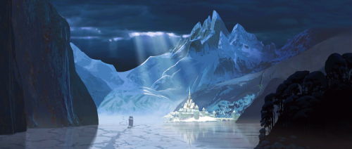 ▣ Frozen (2013) concept art (officially released) Arendelle, a kingdom trapped in eternal winter.