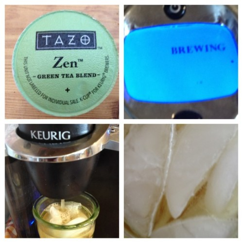 Just made a cup of Tea! #Tazo #GreenTea #Tea #Keurig #Ice #Iced