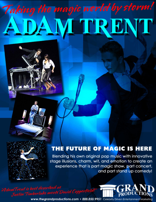 This Generation's Newest Star Magician - Adam Trent - Justin Timberlake meets David Copperfield! For more information contact Grand Productions! www.thegrandproductions.com