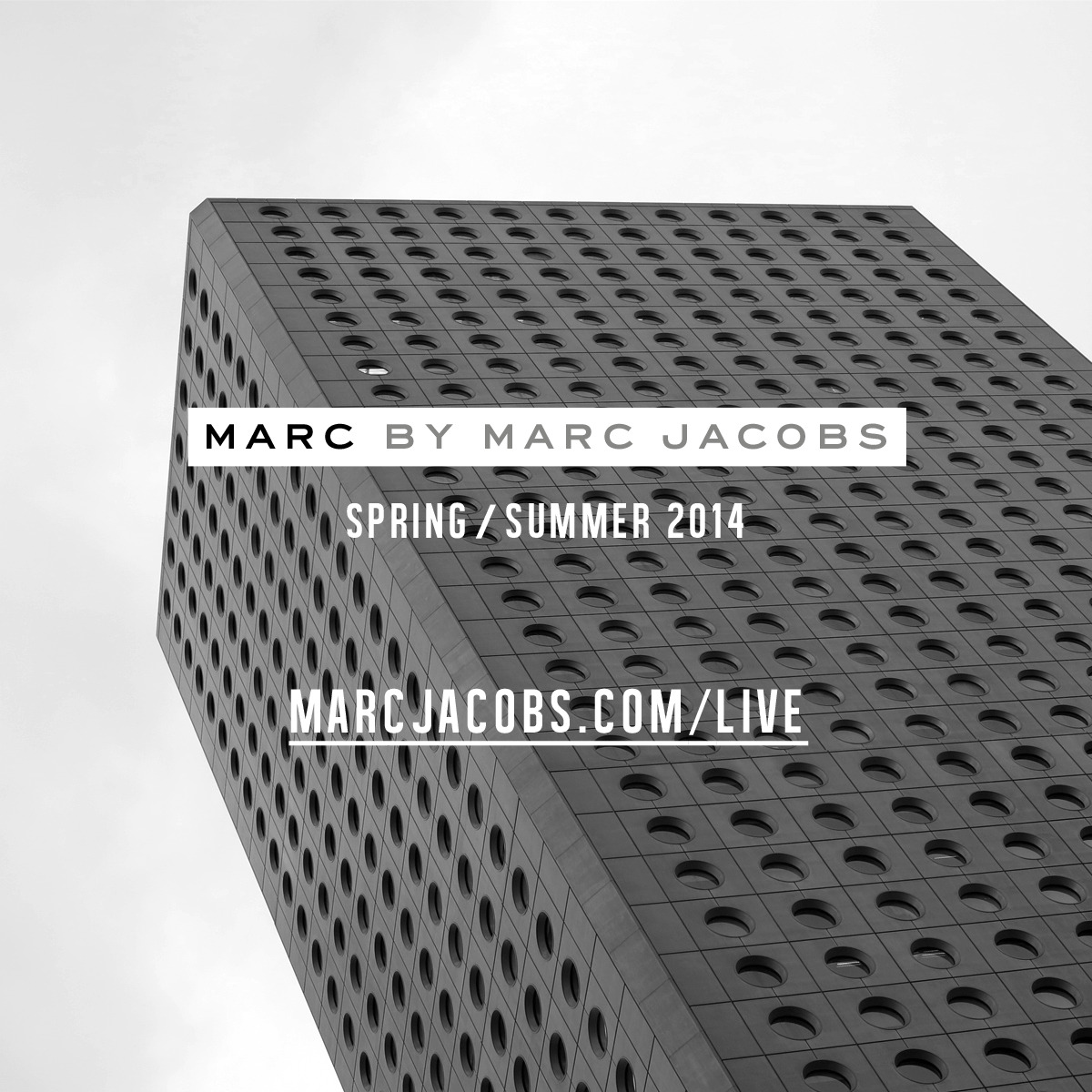 Please take your seats, Marc by Marc Jacobs SS14 is about to begin!  Tune in here: marcjacobs.com/live