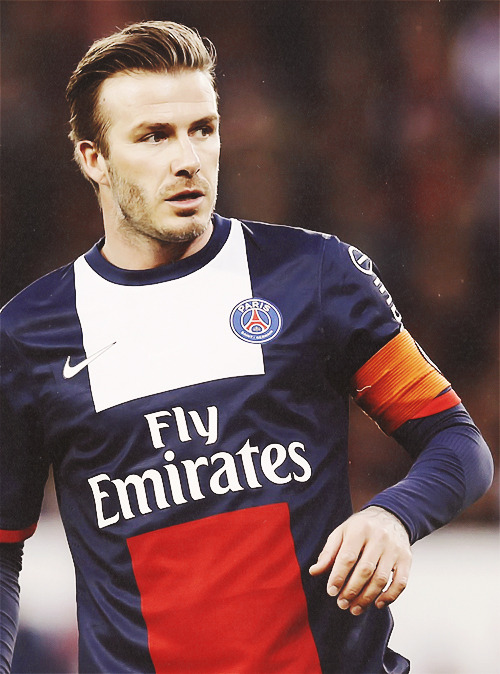 David Beckham captains PSG in his last ever professional football match in his career (18/5/13)