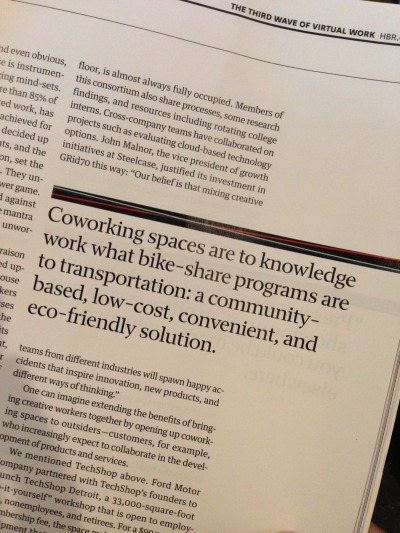 #Coworking rocks! (Article from Harvard Business Review)