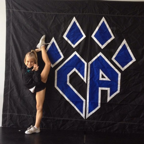 you-just-got-xed-out:  yougotcheerspirit:  maddie is so cute  Is she wearing a Cheer Extreme Shirt?