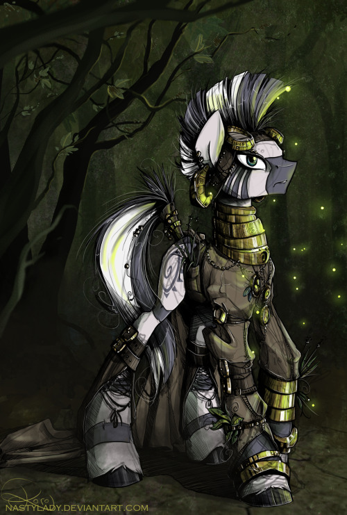 mlpfim-fanart:  Trees, Gears and Fireflies by *NastyLady