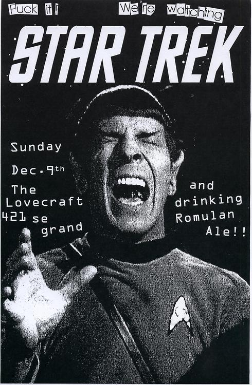 Star Trek night at the Lovecraft Bar!