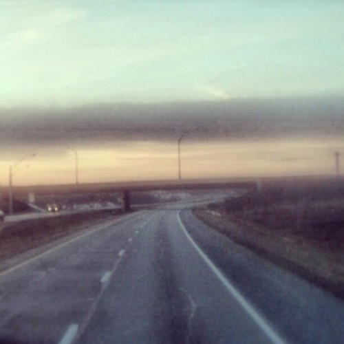 Ohio. Frame taken from time lapse. #ohio #highway #truckdriving #dawn #evening #overtheroad  (at Pilot Travel Center)