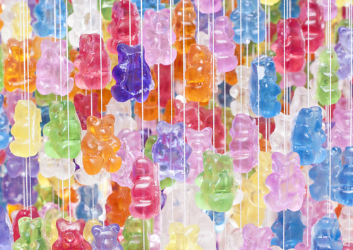 Gummi Bear Chandelier is all my dumb dreams come true.