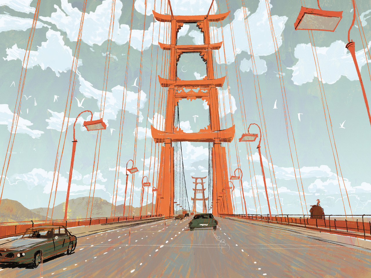 disney:  Concept art from the making of Walt Disney Animation Studios' Big Hero 6.