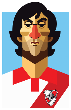 Enzo Francescoli. Playmakers Prints available here:  http://society6.com/DanielNyari