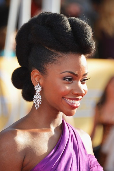 Natural Hair Galore - Actress Teyonah Parris (MAD MEN) @ SAG Awards 2013. Hair done by Felicia Leatherwood.