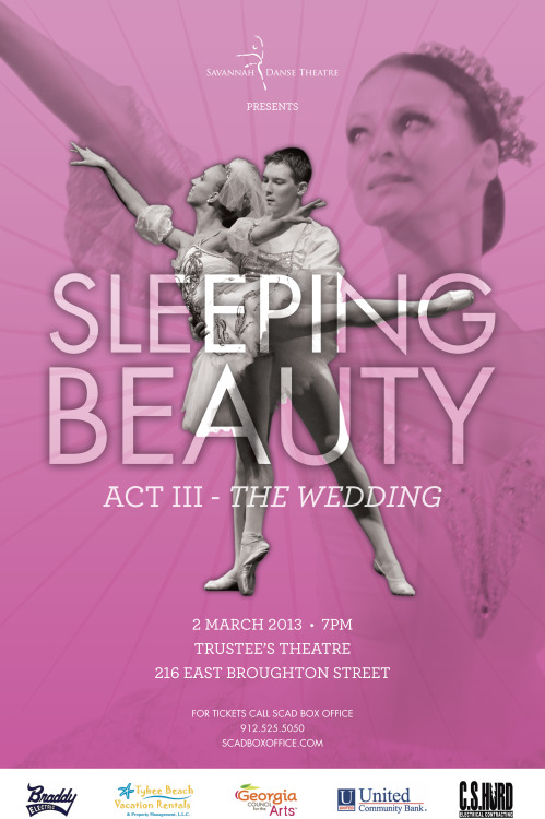 A poster for a Sleeping Beauty ballet performance.