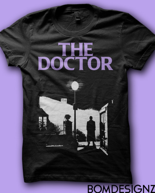 The Exorcist movie poster parody of 10th Doctor and a tardis! Design by Bomdesignz. You can buy it here!