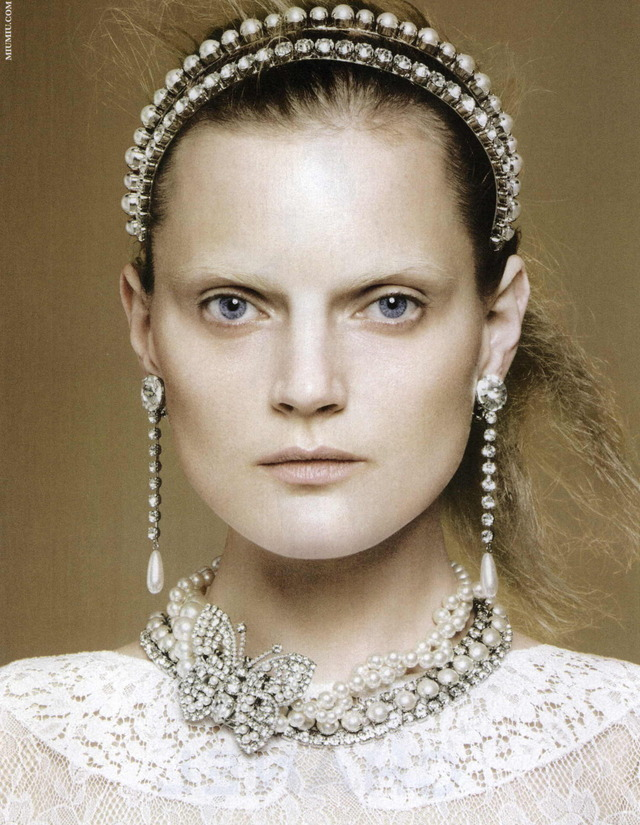 Guinevere Van Seenus by David Sims for Miu Miu Jewels, 2011.