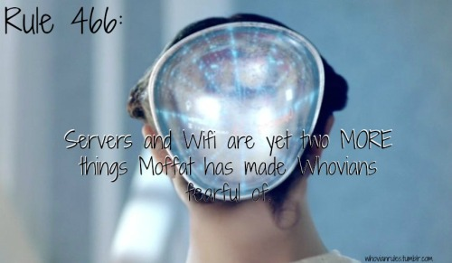 Rule 466: Servers and Wifi are yet two MORE things Moffat has made Whovians fearful of. [Image cap from The Bells of St. John]