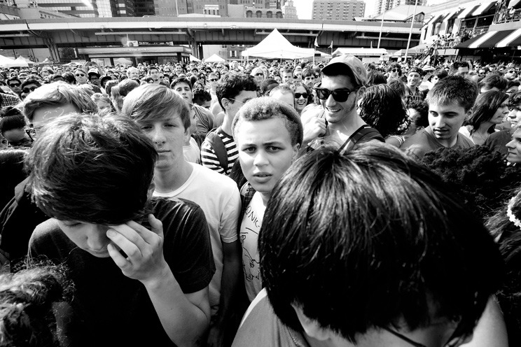 Crowd - 4 Knots Festival - South Street Seaport, NYC - July 14th, 2012