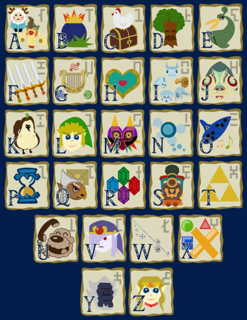 NEW The Legend of Zelda A-Z! Every Zelda game is represented here. Do you know what every letter stands for? T Shirts Mens | Womens Prints| Blankets Follow MNM on Tumblr and or Facebook (10% off code)