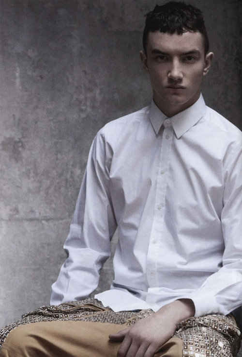 Jacob Coupe for L'Officiel Hommes ph by Andreas Larsson