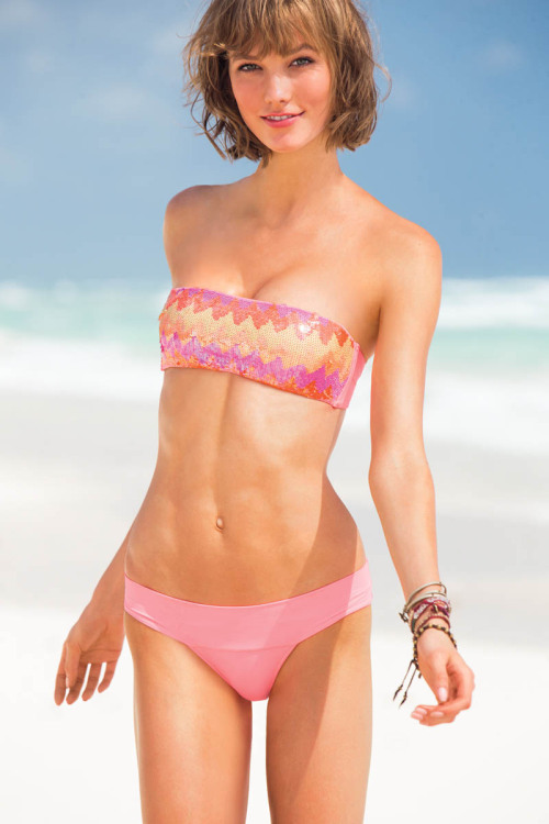 realmofthesenses:  Karlie Kloss for Victoria Secret Swim 2013 Catalogue