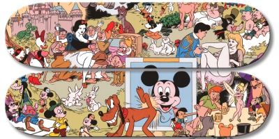sombreboite:  Disney Orgy Skate Decks by Paul Krassner & Wally Wood