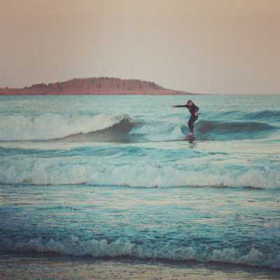 Maine summer surfing (by jbattis)