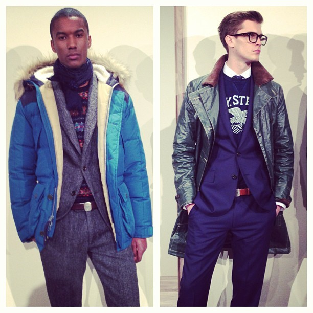 Some great coats & layering from the #JCrew Presentation #nyfw #attheshows  (at Mercedes-Benz Fashion Week)
