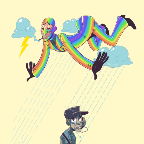 Oh rainbow Spy up in the skyyour lovely rainbow makes Scout cry…