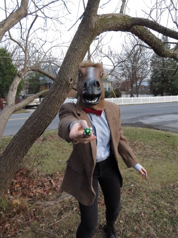 Doctor Who in a horse mask. You're welcome (but mostly we're sorry).