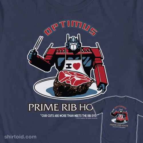 Optimus Prime Rib House by Ninjaink is available at WeLoveFine