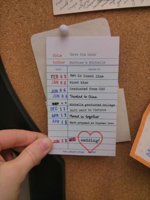 Adorable 'save the date' idea
