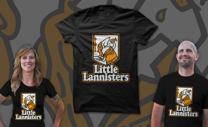 FINAL DAY! Now is your last chance to grab my LITTLE LANNISTERS design for $11 from AnotherFineTee.com.