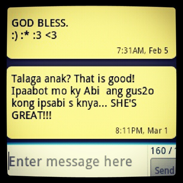 Awwww. :') I feel so blessed. :) Thank you Lord. Hehe. :) #MadeMyDay #BeAWorldChanger #InstaInspired #InstaAwesome #InstaBlessingToOthers #ThankGod
