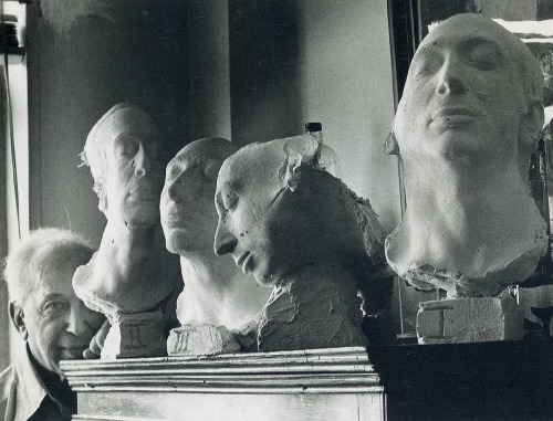 losed:  Self-Portrait with Life masks, New York 1976 by Andre Kertesz