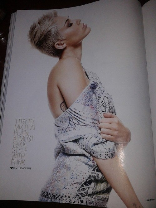 mileynation:  Another Scan from Miley's ELLE UK Photoshoot