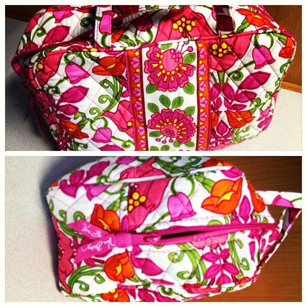 Toiletries bag! Hooray #veraBradley #retailTherapy #calctwo