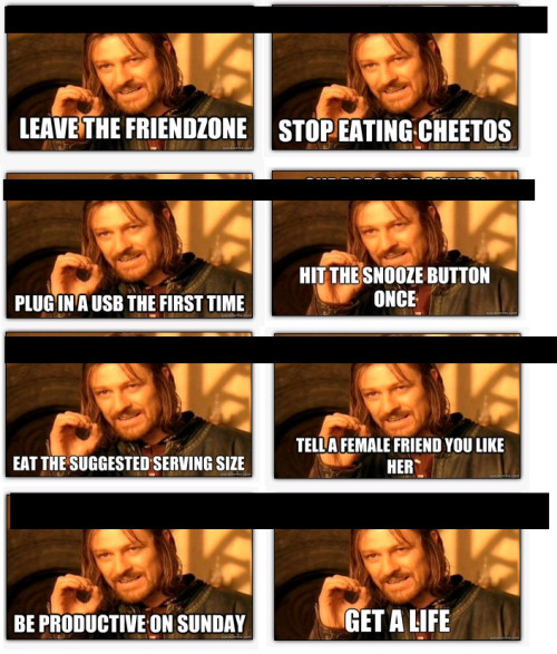 thedailymeme:  Remove the top half, and Boromir becomes First World Courage Wolf