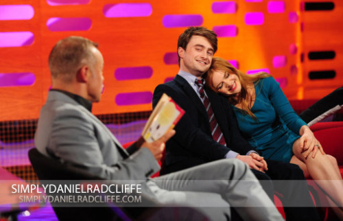 danradconfessions:  Daniel Radcliffe on The Graham Norton Show (Click on the pics for bigger version)