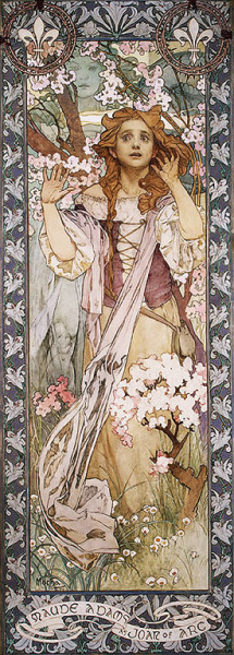 edwardianpromenade:  Maude Adams as Joan of Arc (1909), by Alphonse Mucha