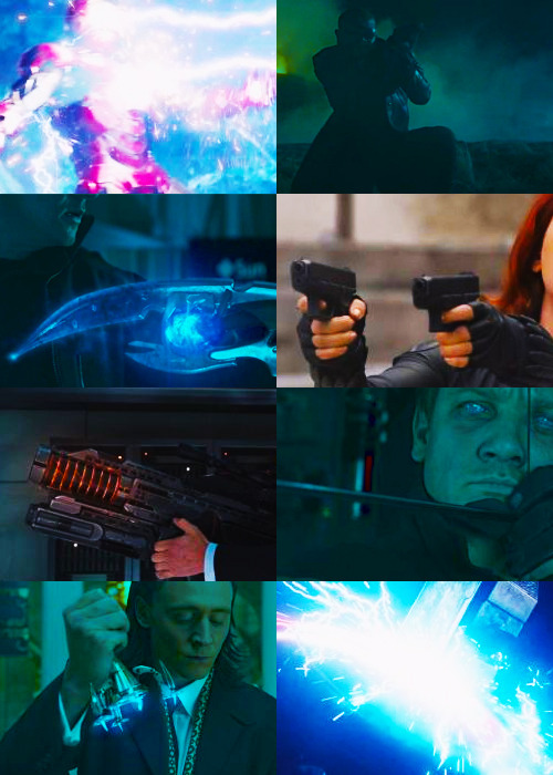 screencap meme - the avengers  objects, weapons (@dreamingofmidnight)