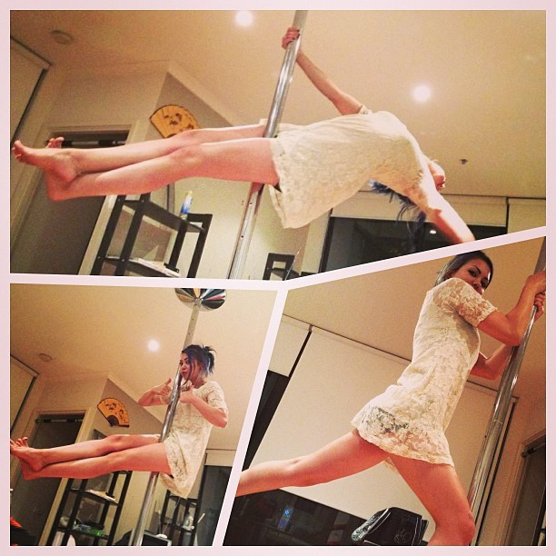 Being a douche camwhoring on the #pole. #poledancing #xpole #fitness #exercise #iworkout