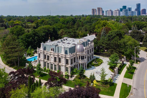 An opulent custom home with more than 24,000 square feet of space has hit the market in Toronto, Ontario for $19.88M CAD.