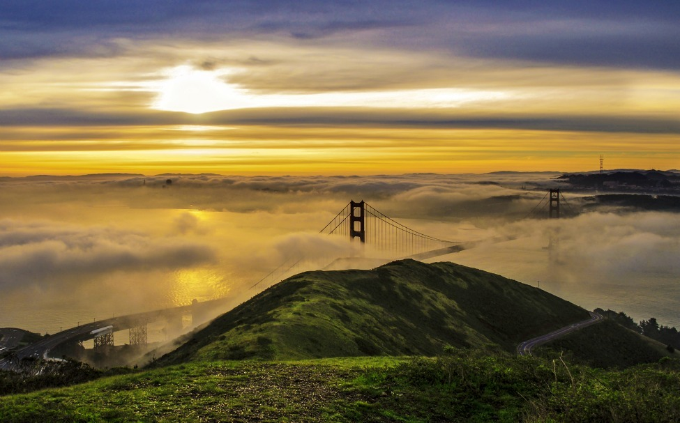 Photo of the Day: Golden sunrise over San Francisco Photo by Artem Kevorkov (Walnut Creek, CA); Marin Headlands, outside San Francisco, CA