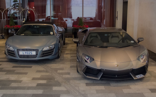 Stepsisters Starring: Audi R8 Spyder and Lamborghini Aventador (by Benoit cars)