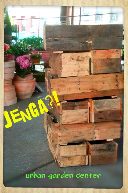 Having fun with pallets #Jenga  #ThinkSpring! #pallets