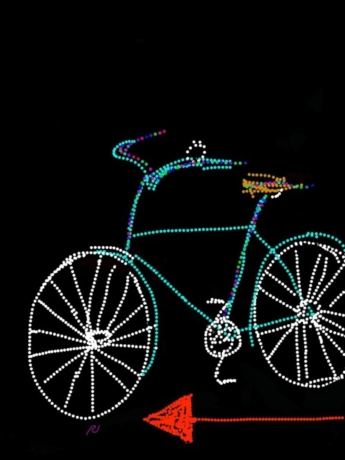 Sketch for a poster for a local bike shop #electroniccanvas 2013