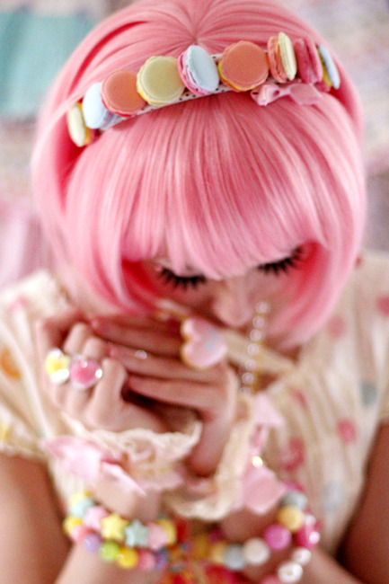 Zoom on my handmade headband :3 Pastel Photoshoot with Sarah!