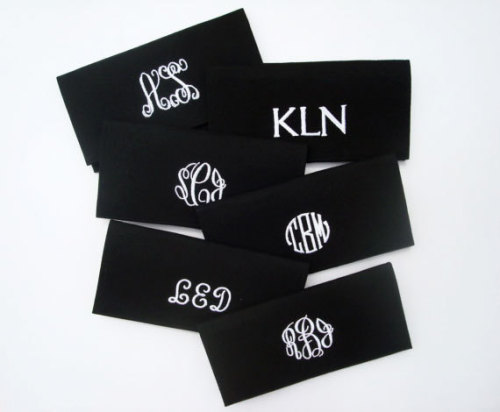 monogrammed winnsome clutches. perfect for moms, bridesmaids, and graduates!