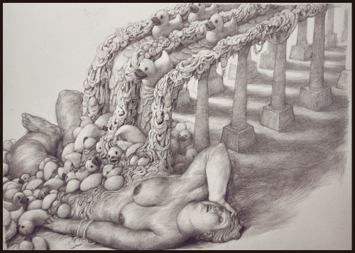 iheartmyart:  Anton Vill, Untitled, pencil on paper, 2012