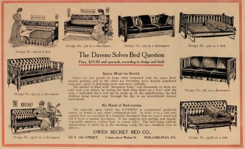 questionableadvice:  ~ Owen Secret Bed Co., Hints for Home Builders, 1908via internet archive(click to enlarge)